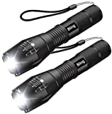 Tactical Flashlight, Bling 1600 Lumens Ultra Bright - CREE XML T6 LED Flash Lighting, Focus Adjustable, 5 Modes,Water Resistant Portable For Outdoor Camping Hiking (IPX-6)