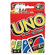 UNO The classic card game of matching colours and numbers  Players take turns matching one of their cards with the colour or number card shown on the top of the deck  Write your own rules for game play with the Wild Customizable cards Score ...