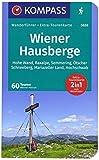 KOMPASS Wanderführer Wiener Hausberge: Wanderführer mit Extra-Tourenkarte 1:80.000, 60 Touren, GPX-Daten zum Download.