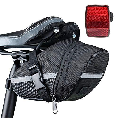 TheStriven Bicicleta Paquete de Cuña para Bicicletas Bolsa Alforja Mochila para Sillín Bolsa Tija Sillín de Ciclismo Paquete de Asiento de La Bicicleta para de la Bici del Camino