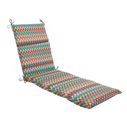 Pillow Perfect Indoor/Outdoor Nivala Chaise Lounge Cushion, Multi-color,Nivala Navajo