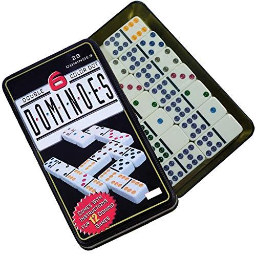 grupo fu Domino Doble 6. 28pc Dot Domino Juego de táctica - Juego ...