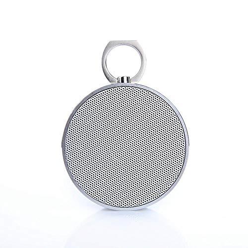 ZENWEN Drahtlose Bluetooth-Lautsprecher schweren Bass Stahl Gun Metal tragbarer Computer im freien Audio Home Desktop tragbare Autoradio SPE Aker mit AUX/USB/TF-Karten-Slot (Silber)