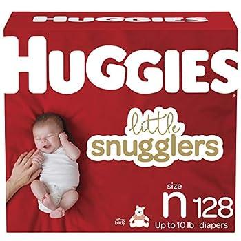 Baby Diapers Size Newborn 128 Ct Huggies Little Snugglers
