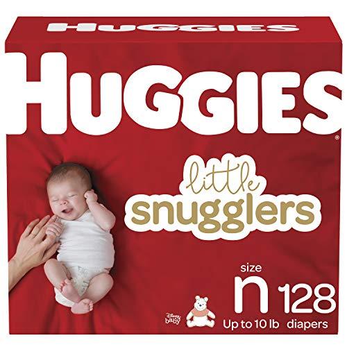 Baby Diapers Size Newborn, 128 Ct, Huggies Little Snugglers