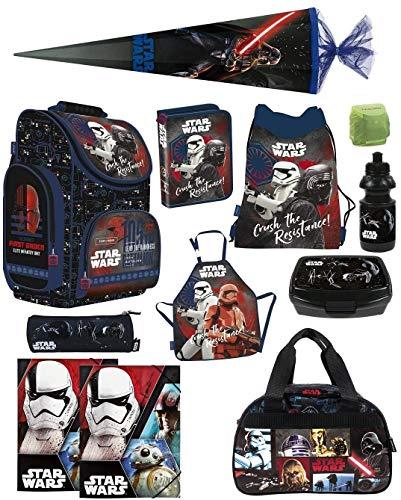 Familando Schulranzen-Set Star Wars Classic 13-TLG. Federmappe, Sporttasche, Schultüte 85cm und Regenschutz PL
