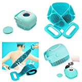 Jiya Enterprise ilicone Soft Cleaning Body | Bath Brush With Shampoo Dispenser Plus Back Scrubber, Bath Brush Washer For Dead Skin Removal Gentle Massage Exfoliation For Kids Men And Women