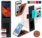 reboon Hülle für Meizu Pro 6 Plus Tasche Cover Case Bumper | Braun Leder | Testsieger