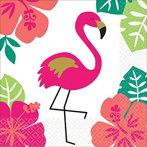 amscan 10119905 501953 Servietten Aloha, Mehrfarbig, 25 x 25 cm