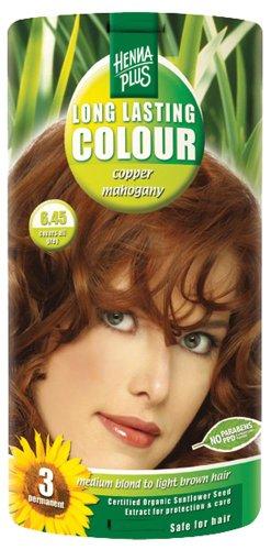 Hennaplus - 49141 Long Lasting Colour - Coloration longue durée - 6,45 Copper Mahogany