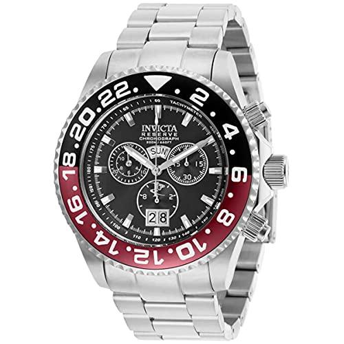 Invicta 29558 Reserve Pro Diver Reloj con bisel negro y rojo para...