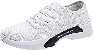 Zapatillas de Deportivos de Running para Hombre Calzados Casuales versátiles Color sólido Zapatillas Transpirables Blanco ...
