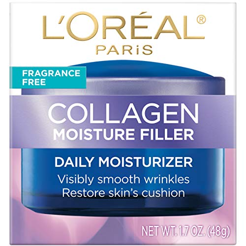 51GAAPZF8TL - Collagen Face Moisturizer by L'Oreal Paris Skin Care, Day and Night Cream Fragrance Free, Anti-Aging Face, Neck and Chest Cream to smooth skin and reduce wrinkles, 1.7 oz