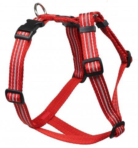 Feltmann Mopsgeschirr Hundegeschirr Soft Nylon, Reflektierend, Rot, 5-9kg, 15mm