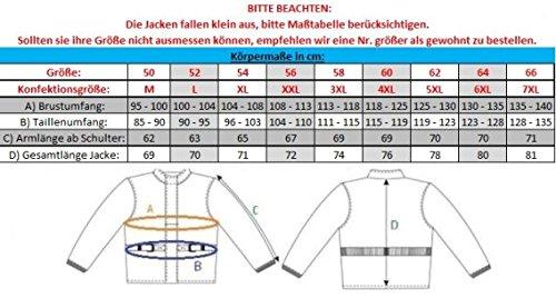 Heyberry Textil Motorrad Jacke Motorradjacke Schwarz Grau Gr. XL - 6