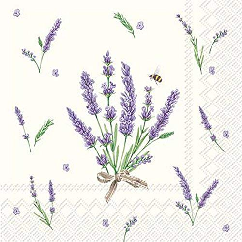 Celebrate the Home Floral 3-Ply Paper Cocktail Napkins, Bouquet of Lavender, 20 Count