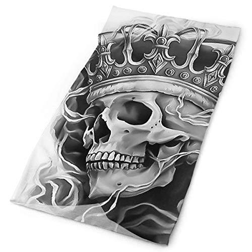 Coole Crown Skull King Vielseitige Gesichtsmaskenschilde, lässige Sturmhauben-Kopfbedeckungen, dehnbare Bandana-Stirnbänder