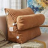 Große Taillenstützpolster Sitzkissen,Premium Komfort Rückenkissen Rückenpolster Ischias Back Schmerz Relief-j 60x25x50cm(24x10x20inch)
