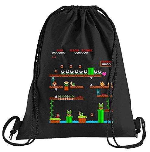 T-Shirt People Retro Mario 1UP Sportbeutel – bedruckter Beutel – eine schöne Sport-Tasche Beutel mit Kordeln