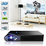 Pocket Pico DLP Projector Wifi 3D HD Mini Portable Outdoor Home Theater Wireless...