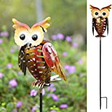 Tomshine Solar Lights, Outdoor Solar Garden Light, LED OWL Garden Decoration Solar Powered Stake Light for Lawn,Patio or Courtyard