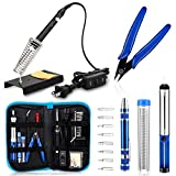Anbes Soldering Iron Kit, [Upgraded] 60W Adjustable Temperature Welding Tool with ON-OFF Switch,...