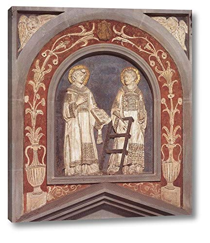 """St Stephen and St Lawrence by Donatello - 14"""" x 16"""" Gallery Wrap Canvas Art Print - Ready to Hang"""