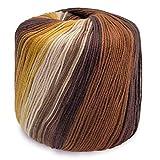 Yarn Fafalloagrron 40 g 8 hebras de encaje de algodón colorido arco iris, hilo...