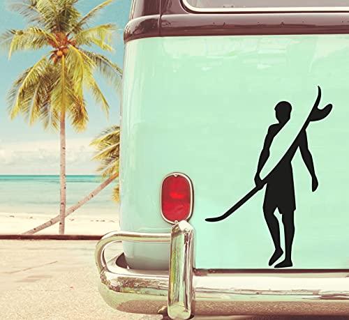 pixlfactory Surfer Aufkleber Sticker Decal Vinyl für Camper, Wohnmobil, Wohnwagen, Auto, Motorrad, Koffer, Fahrrad, Notebook und mehr