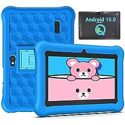 Tablet per Bambini 2 a 12 anni 7 Pollici Android 10.0, Tablet Bambini 2GB di RAM 32GB WiFi Kid-Proof Custodia, App per il Controllo Parentale - Blu