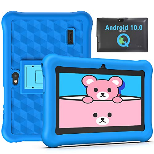 Tablet para Niños 7 Pulgadas Android 10.0 Google Certified Playstore, 2GB RAM 32GB ROM Ampliable hasta 128GB, Tablet de Niños con WiFi Juegos Educativos Kid-Proof Funda (Azul)