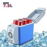 Wemake Portable 12V 7.5L Mini Car Refrigerator Cool Box Cooler Warmer Electric Fridge
