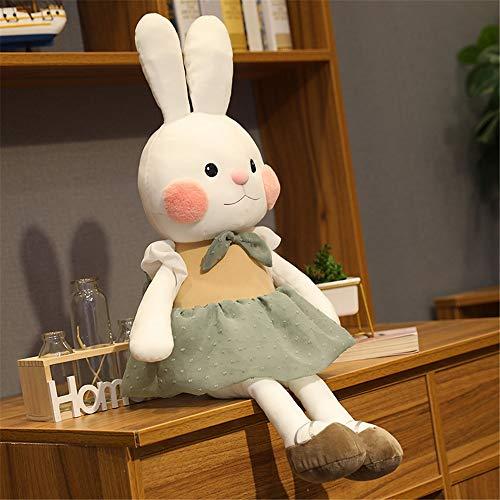 YXYL Juguetes de Peluche 45 cm Lindo Conejo muñeca bebé Felpa Suave apaciguar Conejo Juguete para niños Conejito Peluche Felpa Animal niños Juguetes Calma bebés