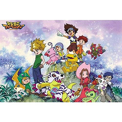 Smklcm Exquisite Creativiteit Anime Cartoon Japanse Digimon puzzel, creatief cadeau verjaardag, Boxed Wood Puzzels Speelgoed Game For Adults & Kids (Color : D, Size : 1000pc)