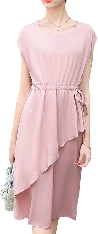 Dissa S9951 Women Vintage Sleeveless KneeLong Cocktail Plus Size Silk Summer Dress