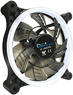 Apevia APEVIA 12L-CWH 120mm Silent Dual Rings White LED Fan with 32 x LEDs & 8 x Anti-Vibration Rubber Pads