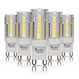 Simba Lighting LED G9 4 Watts T4 40 Watts Halogen Replacement JCD Bi-Pin Base Light Bulb for Pendants, Ceiling Lights, Desk Lamp, Wall Sconce, 120V Non-Dimmable, 6000K Daylight, Pack of 5