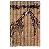 Doubee Personalisiert Krake Octopus Wasserdichtes Duschvorhang Shower Curtain 48