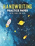 Handwriting Practice Paper With Lines For Kids: Astronaut Handwriting Practice Paper With Dotted Lined Sheets for Kids, Kindergarteners, Preschoolers, And toddlers