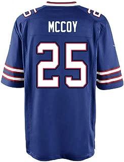 Football Gifts 5XL Jerseys LeSean_McCoy_#25 Jersey 100th Season Blue for Men/Women/Youth