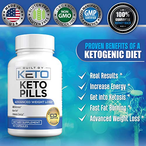 Keto Pills - Weight Loss for Women and Men - Ketogenic Diet BHB Salts - Exogenous Ketones Supplement - Burn Fat for Fuel - Xtreme Lean Ketosis Fat Burner for Fast Weightloss - 60 Capsules 8
