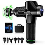 Deep Tissue Muscle Massage Gun, Percussion Massager Gun for Athlete, 30 Speed, Therapy and Relax, 6 Head, Handheld Drill Massager for Bulk Muscle, Arm, Neck, Back