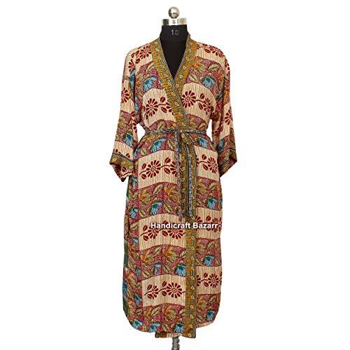 iinfinize Indien Handgemachte Blockdruck Bademode Traditionelle Nachtwäsche Kleid Blumendesign Strandkleidung Kleid Schwimmen Badeanzug Strandkleid Baumwolle Pool Tunika Baumwolle Kaftan Langes Kleid