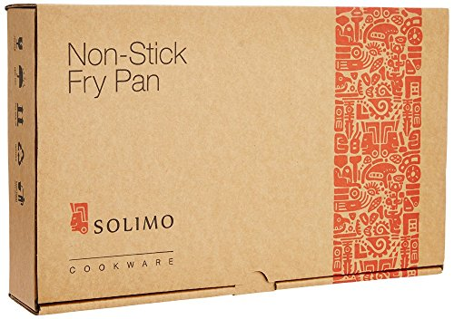 Amazon Brand - Solimo Non-Stick Fry Pan, 24cm, (Induction and Gas compatible), Black