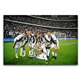 Italia ganó el campeonato, el campeón de la Liga de Fútbol, 01moderno arte pared sala de estar dormitorio gimnasio decoración cartel 30 x 45 cm