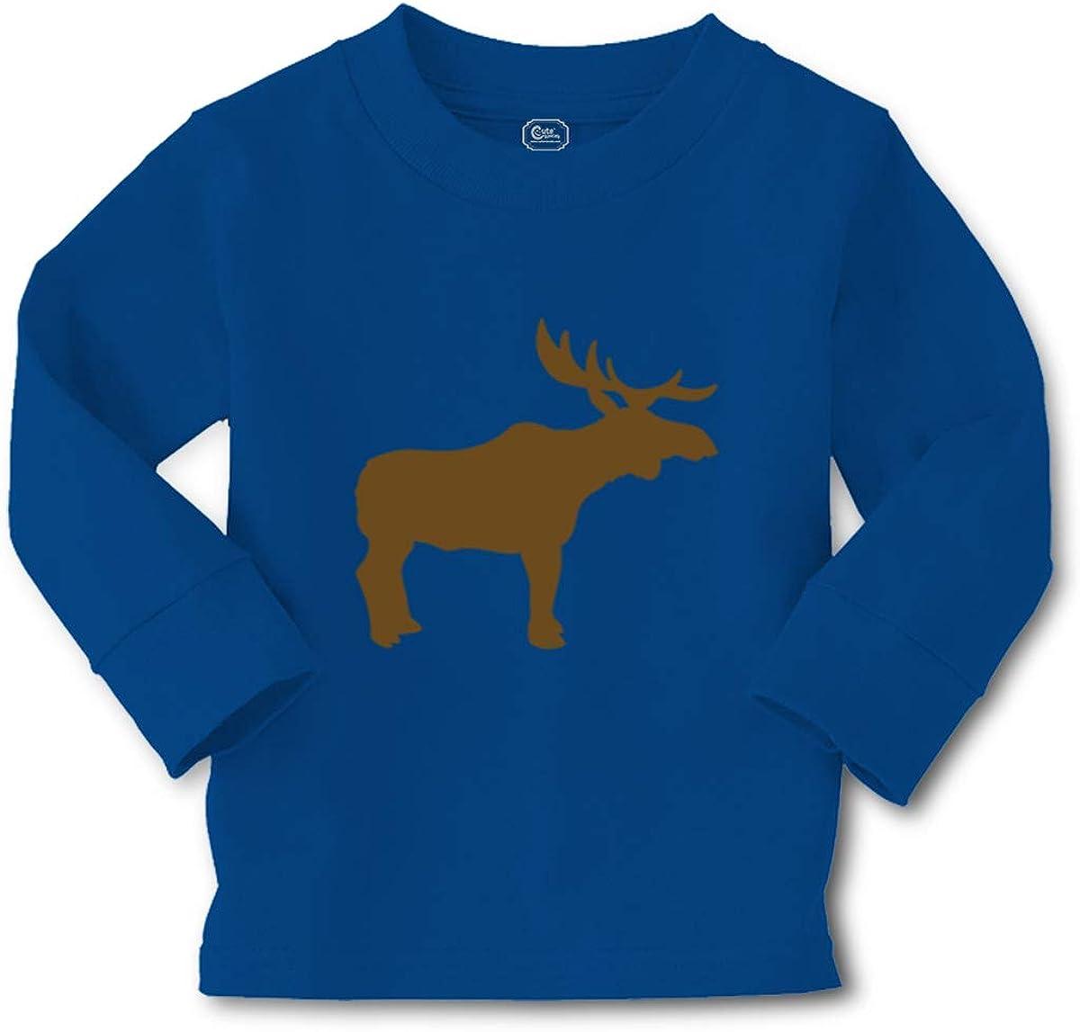Cute Rascals Kids Long Sleeve T Shirt Moose Tracks Cotton Boy & Girl Clothes