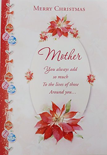 Merry Christmas Mother Greeting Card 'You always add so much to the lives of those around you' for Mom