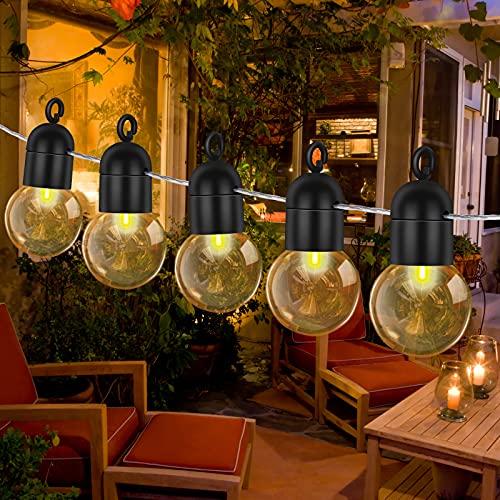 Catena Luminosa Esterno, Comealltime 10 M Luci da Esterno LED Catene Luminose per Esterni con 40 Filo Lampadine Luminarie Lucine da Esterno Decorative per Giardino Natale Terrazza Matrimonio Partito
