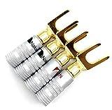 Vimmor - Connettore a Y per altoparlante Nakamichi, 45 gradi, connettore jack audio per ca...