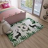 RUGMYW alfombras Entrada casa Beige Verde Amarillo Gris Negro Fawn Hoja impresión Alfombra pie de Cama 200X300cm